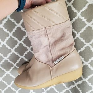 Vintage Tecnica Wedge Boots 41 9.5